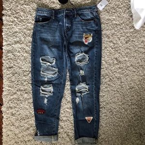 Articles of Society destroyed boyfriend jeans